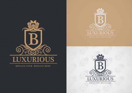 business sign: Luxurious   design, Real estate, Hotel, Restaurant, Royalty, Boutique, Business sign, Illustration