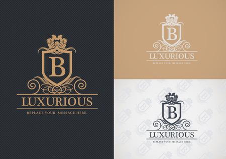 Luxurious   design, Real estate, Hotel, Restaurant, Royalty, Boutique, Business sign, Illustration