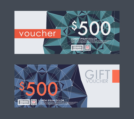 monetary: Voucher template with premium vintage pattern. vector