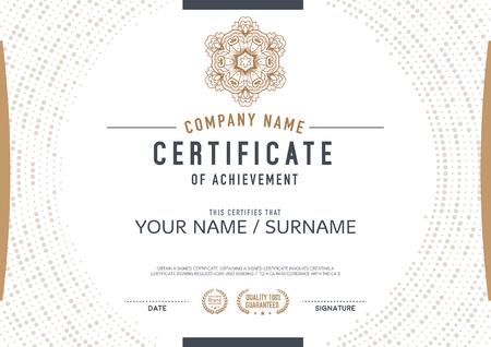 certificado: plantilla de certificado vector. lujoso, exclusivo