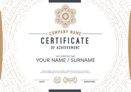 Vector certificate template. luxurious, unique Imagens - 48015405