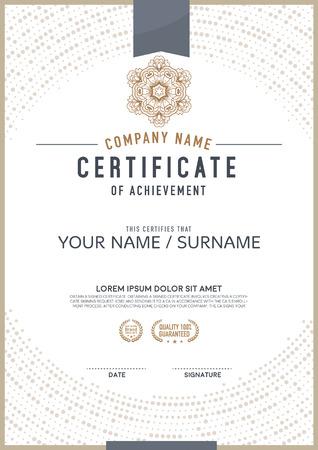 Vector certificate template. luxurious, unique
