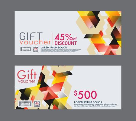 vouchers: Voucher template with premium vintage pattern. vector