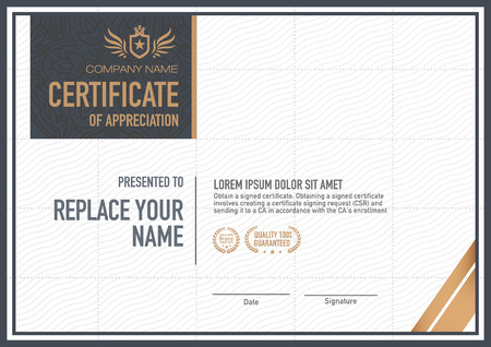 luxurious: certificate template. luxurious, unique Illustration