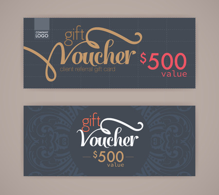 gift tag: gift voucher template.