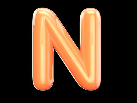 lettre alphabet: Les Anglais lettre n. Le programme se compose de regard 3d comme des ballons. La forme et la couleur, brillant, beau