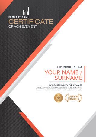 certificaatsjabloon. modern, luxueus, uniek