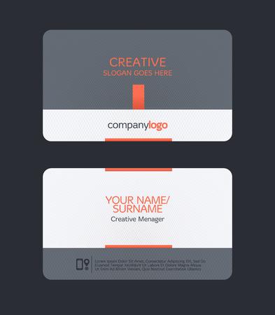 modern clean business card template. Flat design Vectores