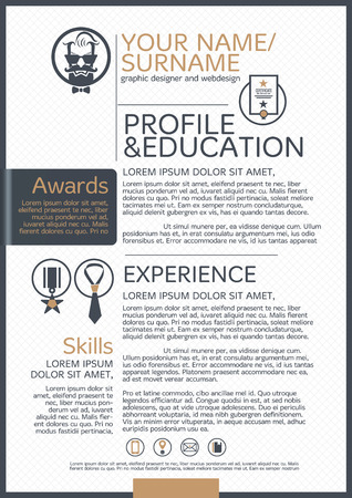 headshot: The Resume template business icon and background.
