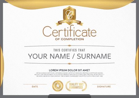 sellos: Certificado limpio y moderno.