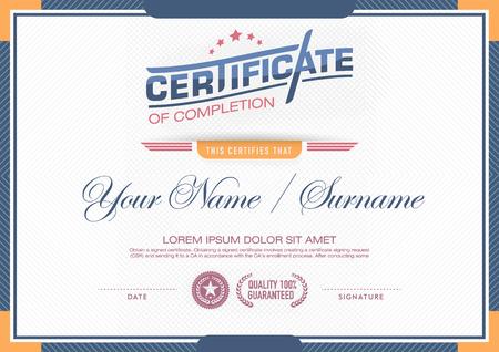certificado: plantilla de certificado vector. Vectores