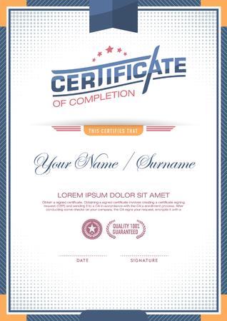 certificate template: vector certificate template.
