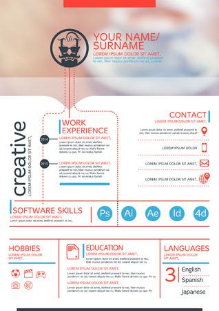 Vector resume template. CV, Brochure layout,magazine Stock Illustratie