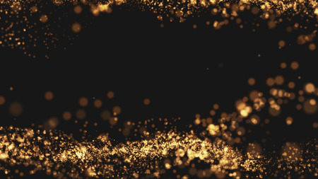 Gold background Wave motion Beautiful and elegant Top with space for text properly.