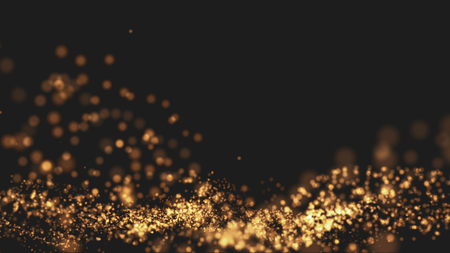 glamor: Gold background Wave motion Beautiful and elegant Top with space for text properly.