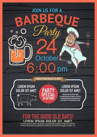 BBQ party menu is unique, distinctive colors. And have fun Deployed in many forms.