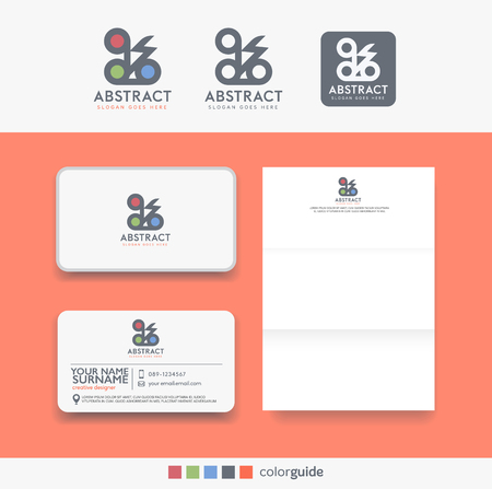 business card design: Abstract logo and  business template set.