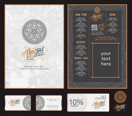 vettore ristorante thai food modello di menu. Vettoriali