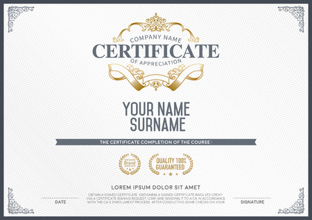 stock certificate: Stock Vector Illustration: Vector certificate template.
