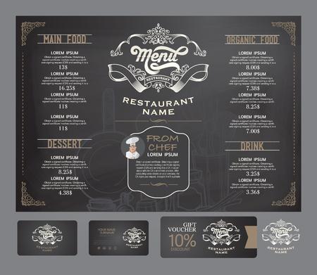 menu de postres: restaurante vector plantilla de menú.