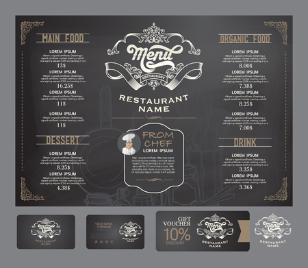 menus: Vector restaurant menu template.