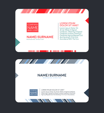 esp cards: Modern trendy business card design template