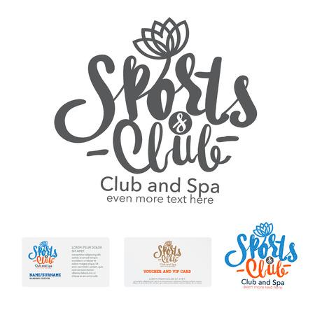 sports club: sports club design template. Business card. Illustration