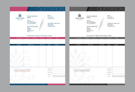 Vector offerte design template.