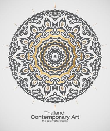 thai art: Thai art element for design. Thailand contemporary art.