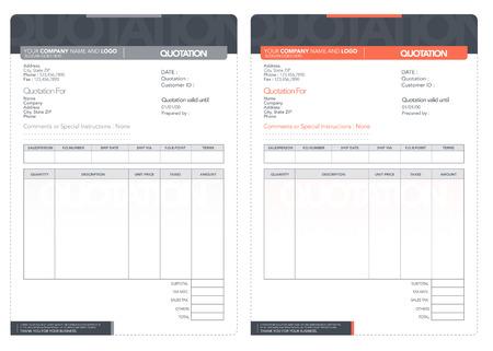 Vector offerte design template.