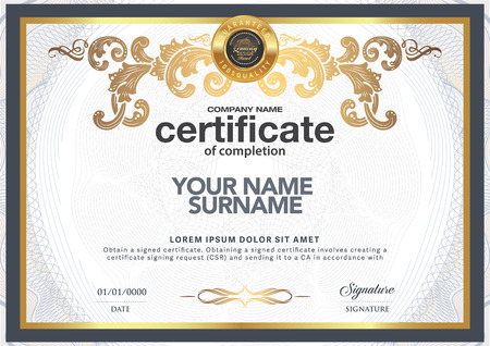 certificate design: Design certificate to be elegant and stylish.
