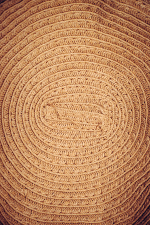 la textura de sombrero de paja pintada de cerca, Sombrero de paja, de cerca los detalles, Resumen grunge pintura.