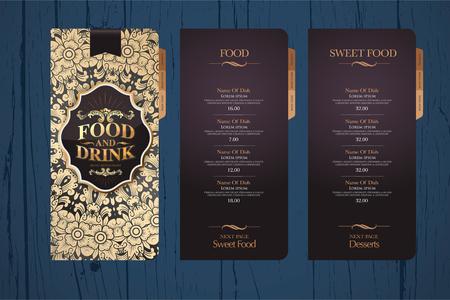 thailand food: Design menu for restaurants. Menu design template. Background texture menu.