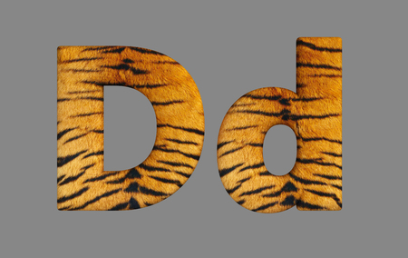 Form letters from program design 3d image of a tiger skin. Stock Photo