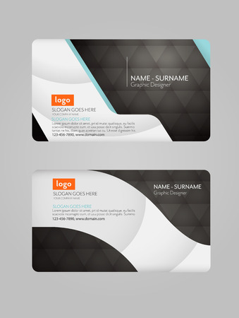 business card: Modern business card template. Clean business card. Illustration