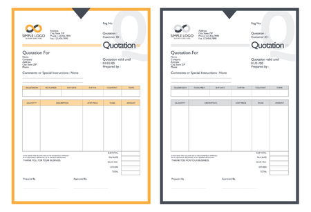 receivable: Vector quotation design template.