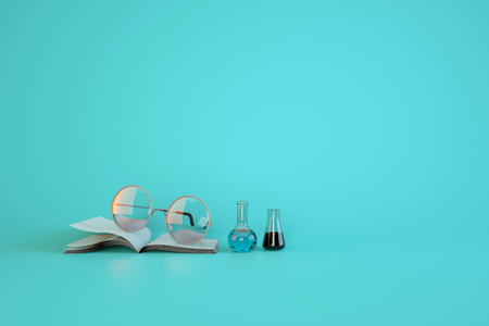 experimentation: Equipment used for learning and experimentation. 3d render illustration . Stock Photo