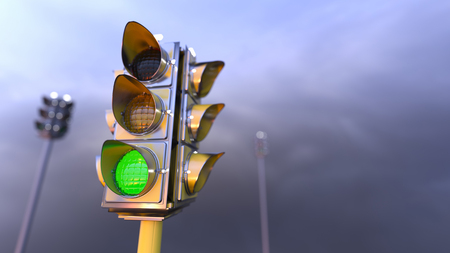 Traffic light, Created with 3D.