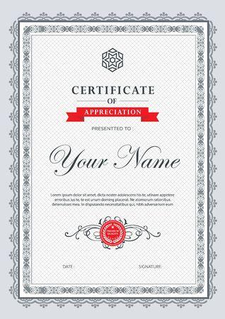 luxury template: Certificate vector luxury template,