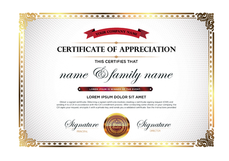 Certificate vector luxury template.