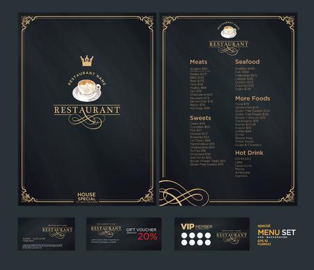 Creative menu design. Layout design, Design set for menu restaurant. Illustration