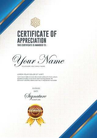 Certificate vector luxury template.