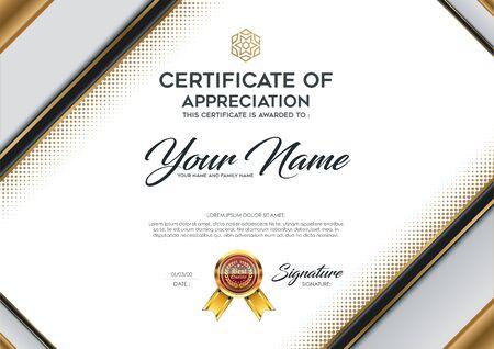 luxury template: Certificate vector luxury template.