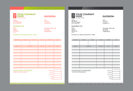 receivable: Vector quotation design template,