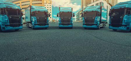 Truck, transportation, Freight cargo transport, Shipping.3d render and illustration.