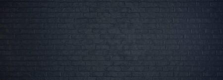 black brick wall, brickwork background for design.3d render and illustration.
