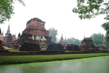 Buddha stupa in sukhothai unesco photo