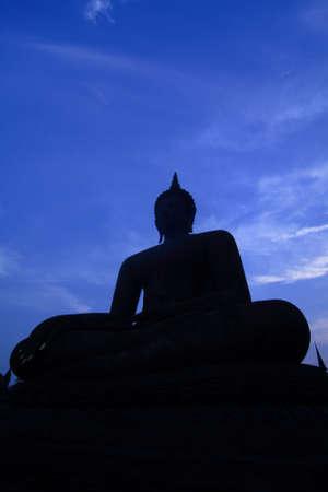 Sukhothai buddha in Sukhothai historical park, thailand photo