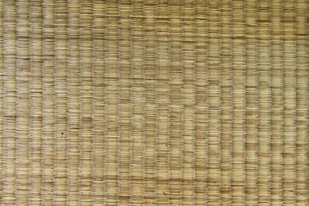 Mat pattern handmade from dried grass photo