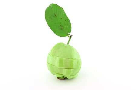 Guavas with leave Stock Photo - 10181151